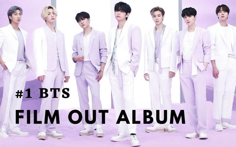 #1 in BTS, Tops the Oricon chart with new song Film Out in Japan