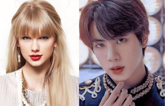 BTS Jin Becomes The Most wanted Singer For Taylor Swift 2021