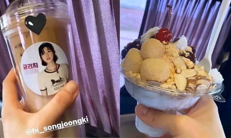 Song Joong Ki sent a Sweet Coffee truck & Food to Support Jeon Yeo-bin